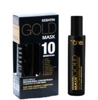 Несмываемая спрей-маска с кератином и жидким золотом Keratin gold mask